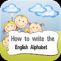 How to write English Alphabet icon