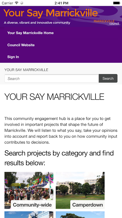 My Marrickville- screenshot