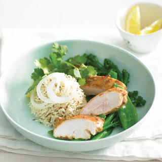 Tandoori Chicken With Cumin-flavoured Rice.