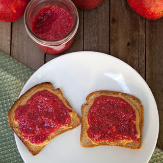 Raspberry Pomegranate Chia Jam.