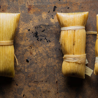 Chicken-and-Poblano Tamales.