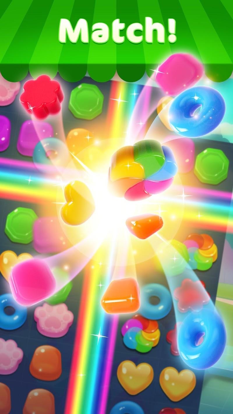 Jellipop Match: Open your dream shop! Screenshot 1