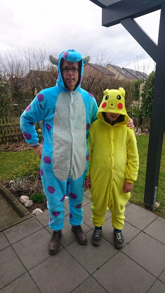 Kostüm Sully Pixar Pikachu Karneval