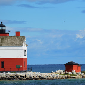 Lighthouse off Mackinac Island by Thomas Barr - Buildings & Architecture Other Exteriors (  )