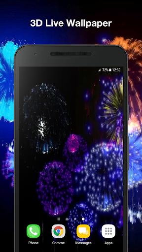 3d fireworks live wallpaper pro screenshot 1