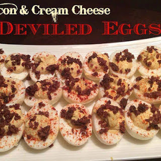 Bacon & Cream Cheese Deviled Eggs.