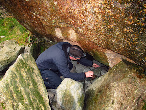 Photo: Dave digging out the cave