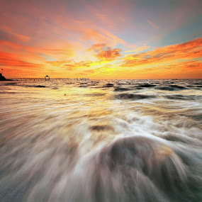 Water and Flame by Andrew Supit - Landscapes Sunsets & Sunrises