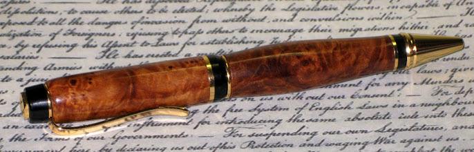 Photo: Burl Cigar Pen #58. Box Elder Burl?