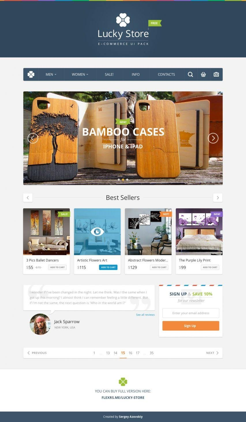 Collection of ecommerce website template free download ( 8