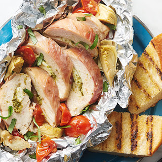 Prosciutto-Wrapped Chicken Foil Packs.