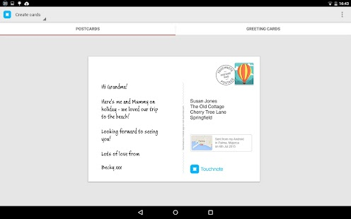 Touchnote - screenshot thumbnail
