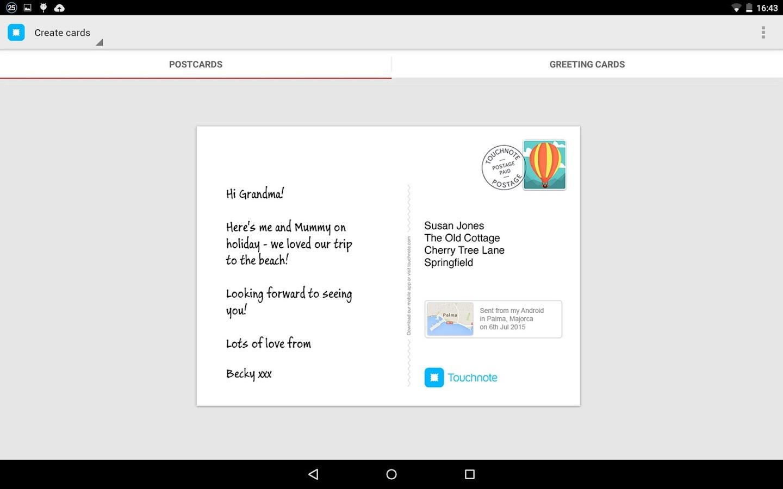Touchnote - screenshot