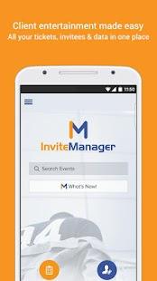 InviteManager - náhled