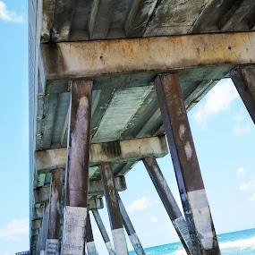 The Pier by Jesse Roberts - Landscapes Beaches ( #wrightsvillebeach, #nc, #wilmington, #tidewaters, #beach, #dawsonscreek, #summer )