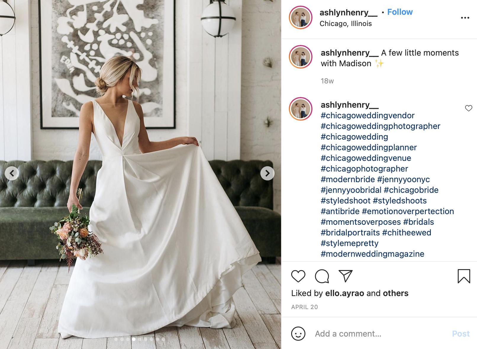 wedding dress with plunging neckline