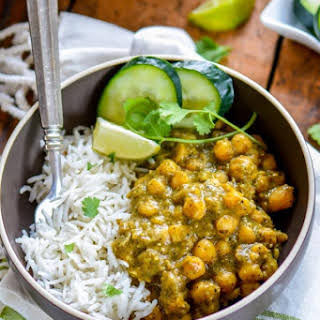 Roasted Tomatillos Chickpea Curry.