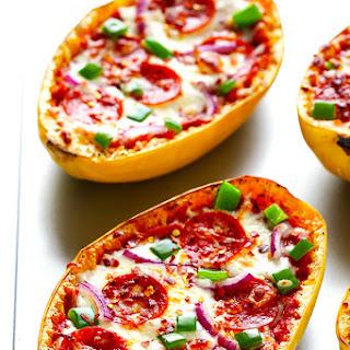 Spaghetti Squash Pizza Boats