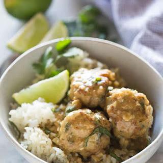 Thai Green Curry Meatballs.