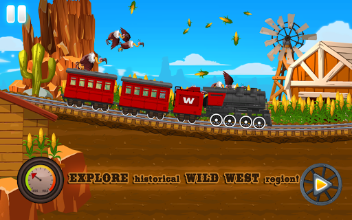 Western Train Driving Race screenshot 4