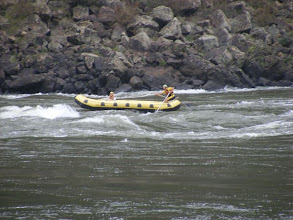 Photo: Rafting in the rapids