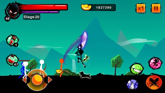 Stickman Shost: Ninja Warrior Action Offline Game Screenshot