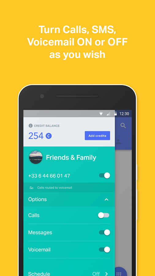 onoff App - Call, SMS, Numbers- screenshot