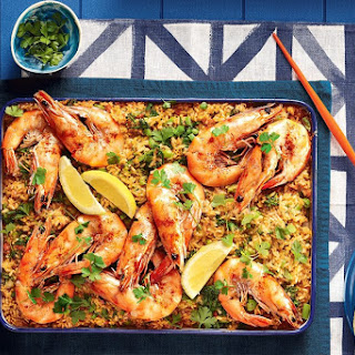 Baked Rice and Prawns Recipe