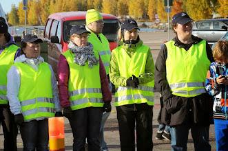 Photo: Koskenrinteen 2013 pyörätuolisaateviesti Kotkan kantasatamassa Kuvat Raimo Oksala.