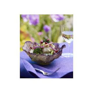 Pom Broccoli and Cauliflower Salad With Crisp Prosciutto and Mustard Dressing.