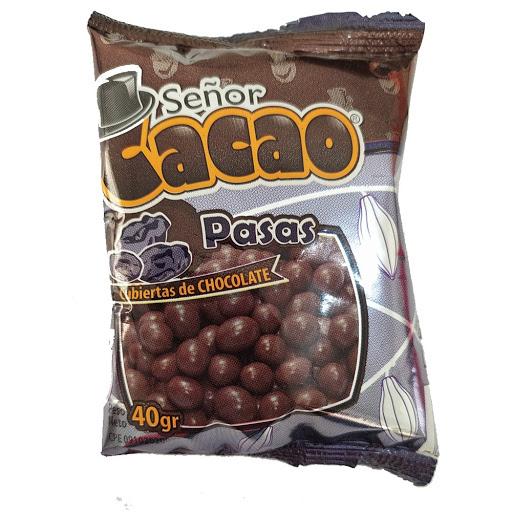 chocolate senor cacao pasas cubiertas de chocolate 40gr