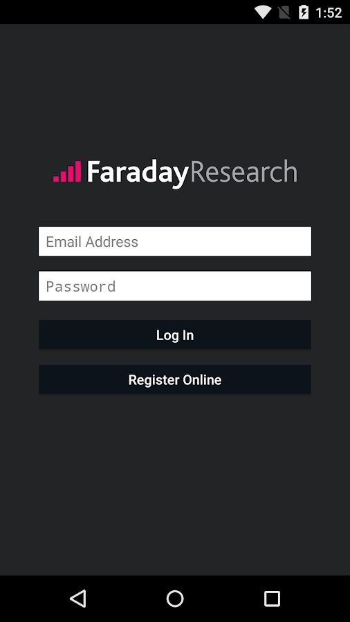 Faraday Research- screenshot