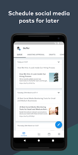 Buffer: Social Media Manager 7.4.11 screenshots 1