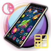 Colourful Planet Cartoon Theme Android APK Download Free By Fancy Theme Palace