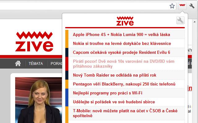 Živě.cz pro Google Chrome™