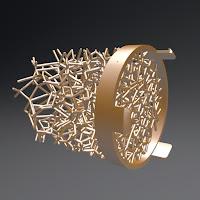 Level Vent Design - Chaotic Voronoi Gradient