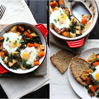 Butternut, Kale & Apple Hash with Baked Eggs.