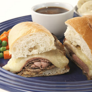 French Dip Beef Sandwiches Au Jus Meal