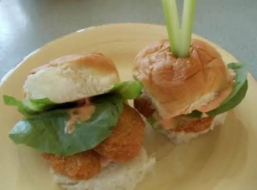 "Click Here for Recipe: Buffalo Chicken Sliders ""These are super easy to..."