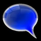 GO SMS Royal Blue Glass Theme icon