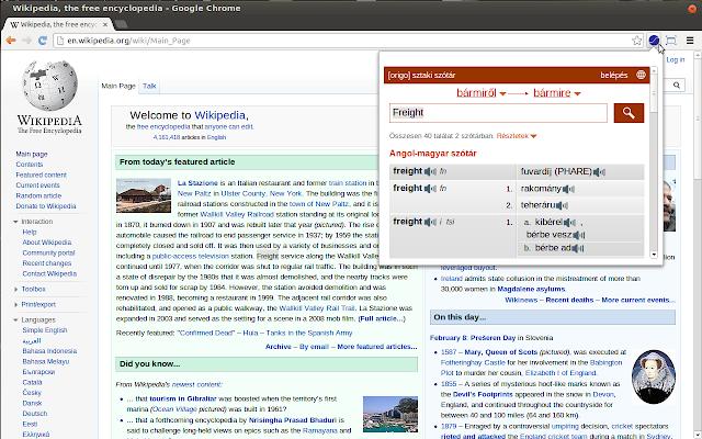 SZTAKI Dictionary Extension