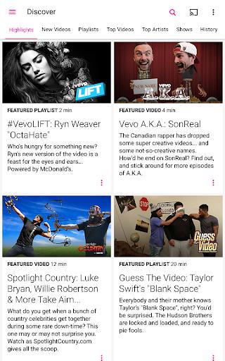 Vevo - Watch HD Music Videos Screenshot
