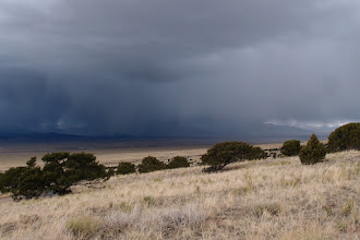 Photo: Moving over Villa Grove. This one went to the N of VVHS--just a few sprinkles at camp.