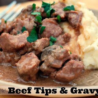 No Peek Beef Tips & Gravy.
