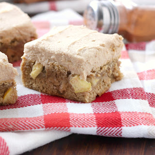Spiced Apple Bars with Brown Sugar Buttercream.