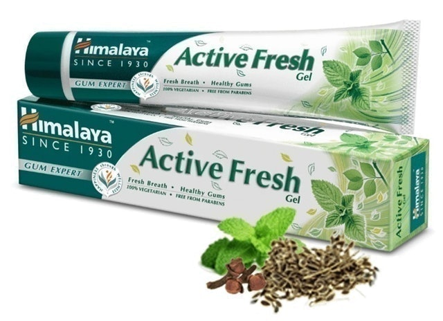 2. ยาสีฟัน Himalaya สูตร Himalaya Active Fresh Gum Expert Herbal Gel
