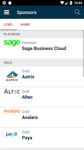 Screenshot for Sage Events Live in United States Play Store