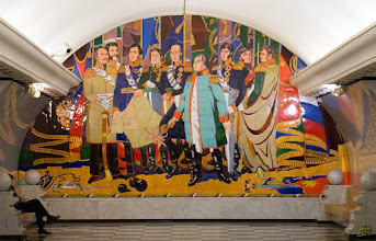 Photo: The mural down in the Victory Park metro station https://en.wikipedia.org/wiki/Park_Pobedy_(Moscow_Metro)