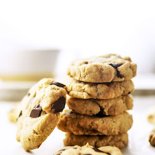 Vegan Almond Flour Chocolate Chip Cookies.