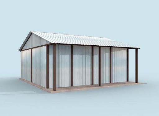 projekt GB23 Garaż Blaszany